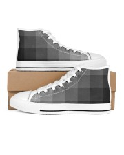 White Grey Black and More Men's High Top White Shoes thumbnail