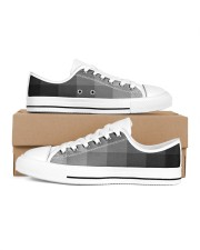 White Grey Black and More Men's Low Top White Shoes thumbnail
