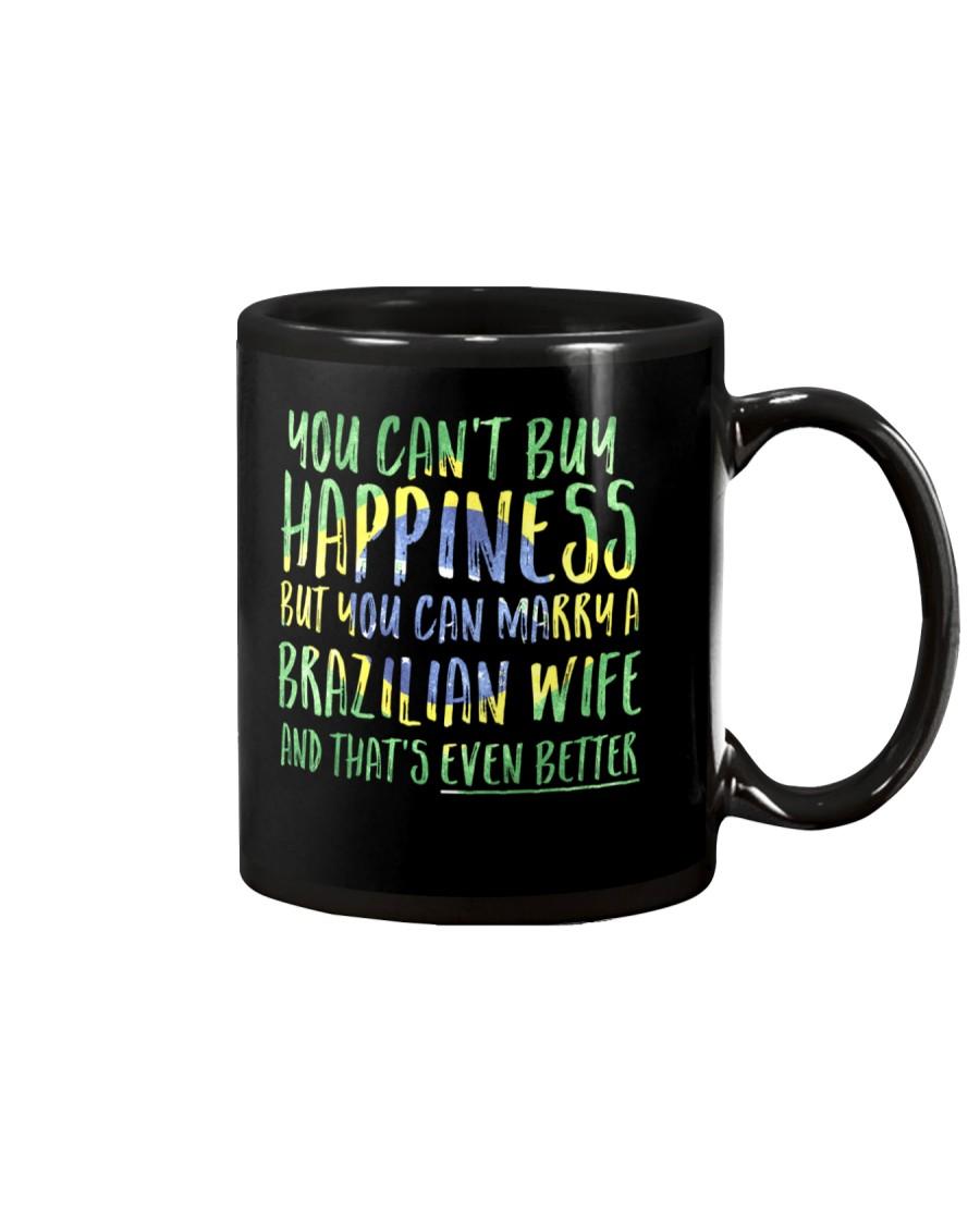 Marriage Happiness - Brazil - Wife - Flag - Dark Mug