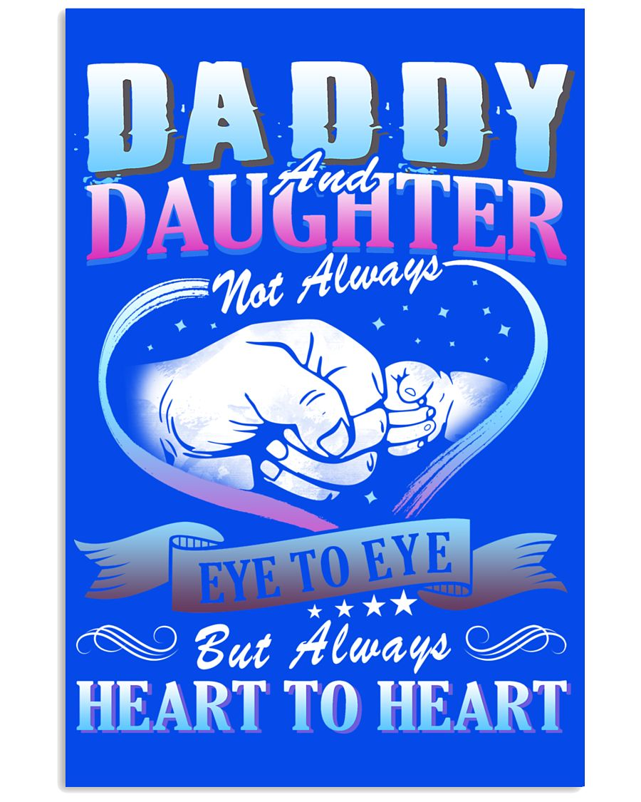 Daddy and Daughter Shirts 16x24 Poster