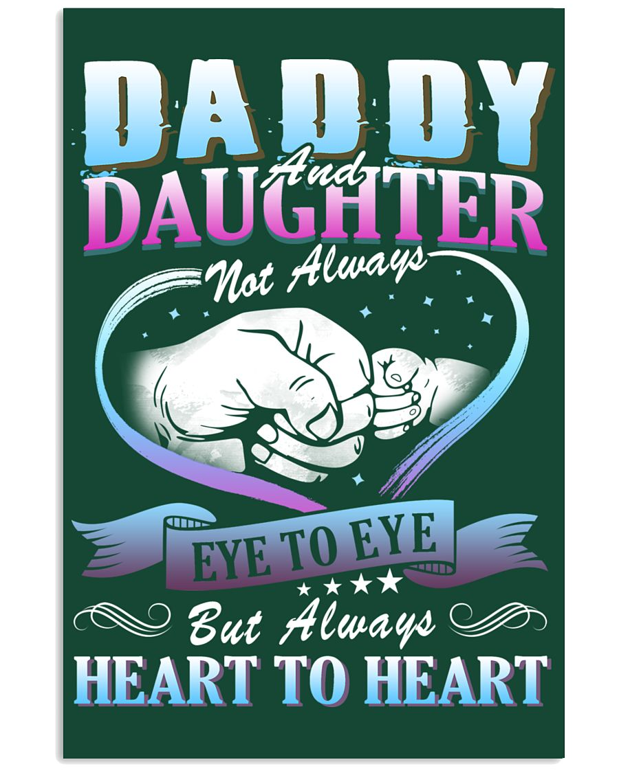 Daddy and Daughter Shirts 24x36 Poster