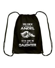 GOD GAVE ME MY DAUGHTER Drawstring Bag front