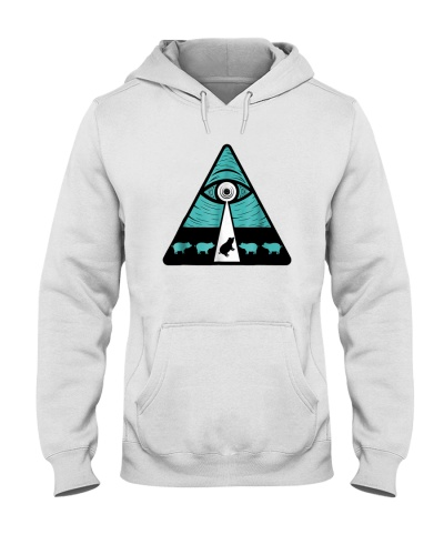 All Seeing Eye Abducting Oh My God Pig Shirt