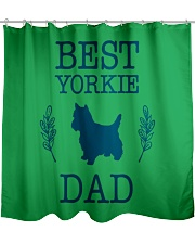 Best Yorkie Dad Shirt Funny Father s Day Gift Shower Curtain front