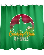 Cowboy Dad Fathers Day Wild West Western Parents- Shower Curtain front