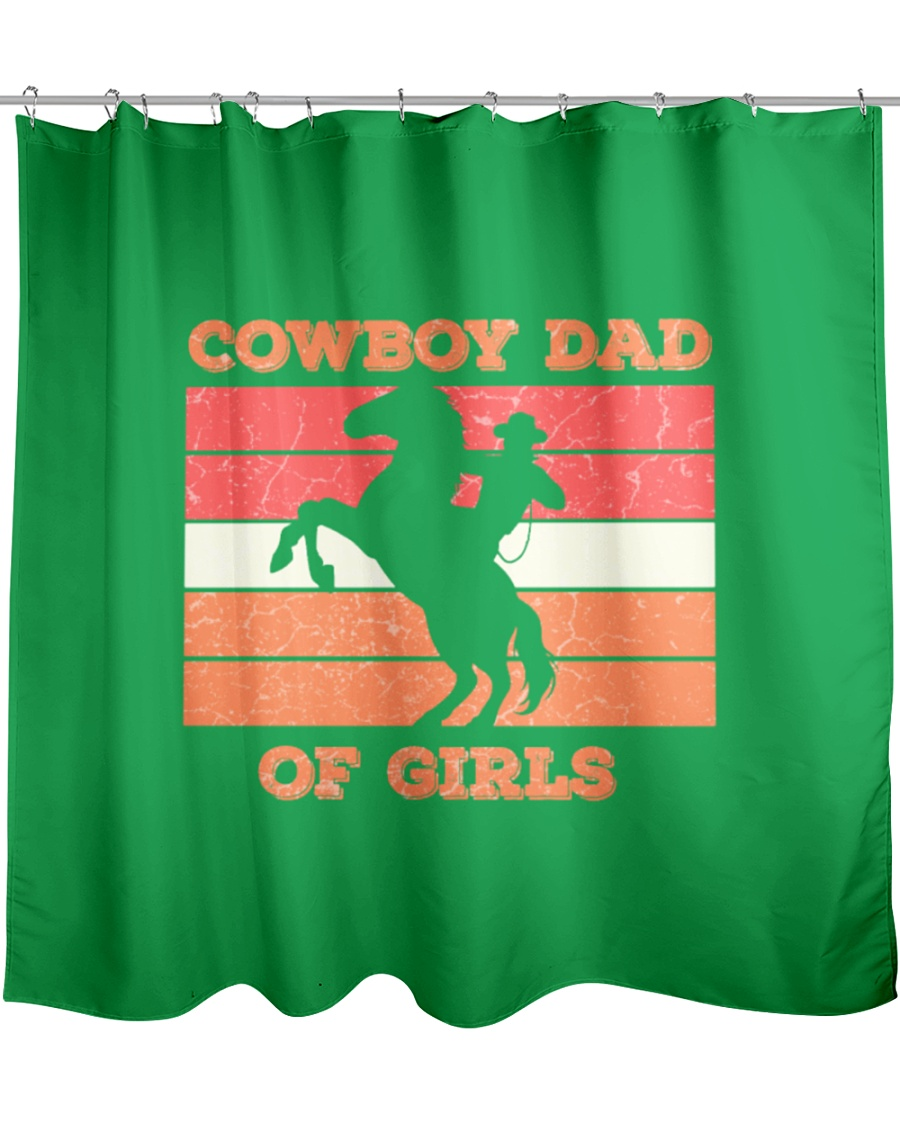Cowboy Dad Fathers Day Wild West Western Parents- Shower Curtain