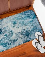 "ocean bathmat premium Bath Mat - 34"" x 21"" aos-accessory-bath-mat-34x21-lifestyle-front-05"