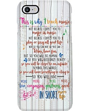 Reason For Teaching Music Poster Phone Case thumbnail