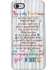Reason For Teaching Music Poster Phone Case thumbnail