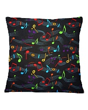 Colorful Music Notes Square Pillowcase thumbnail
