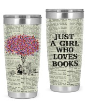 Just a girl who loves books tumbler 20oz Tumbler front