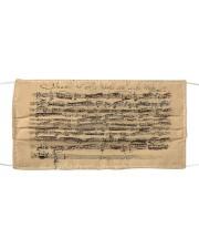 Bach Autograph Sonata No 1 Cloth face mask thumbnail