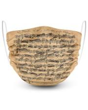 Bach Autograph Sonata No 1 2 Layer Face Mask - Single front