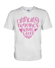 Dancing together while 6 feet apar V-Neck T-Shirt thumbnail