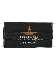 History has its eyes Cloth face mask front