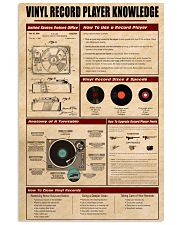 Vinyl Knowledge Poster 2 11x17 Poster front