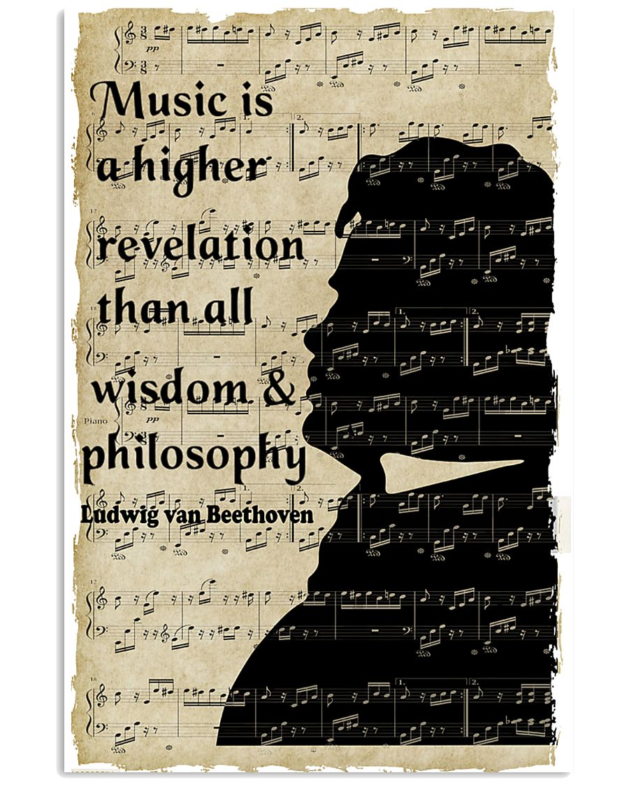 Beethoven Quote Art 11x17 Poster