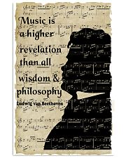 Beethoven Quote Art 11x17 Poster front