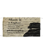 Beethoven Quote Art Cloth face mask thumbnail