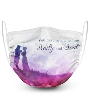 You have bewitched me  2 Layer Face Mask - Single front