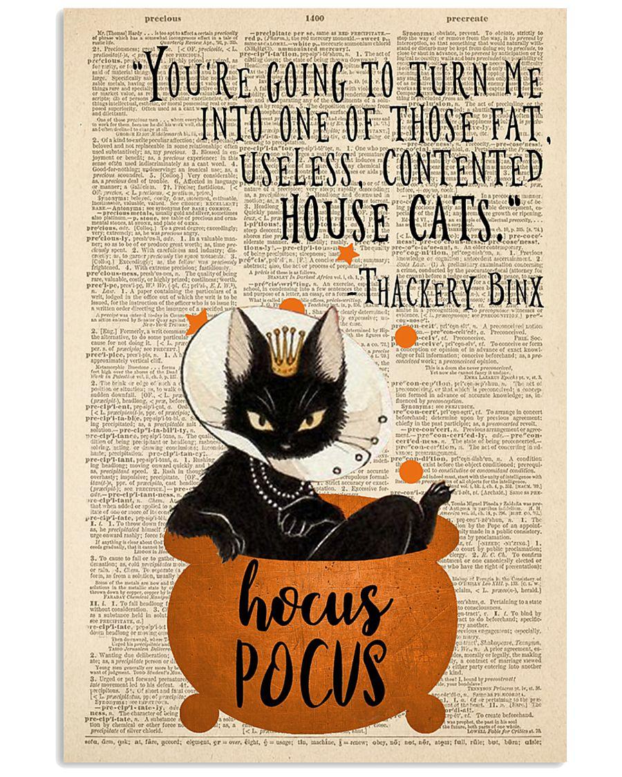 Thackery Binx black cat from Hocus Pocus 11x17 Poster