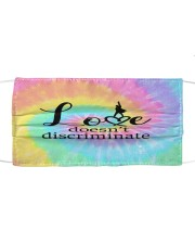 Love doesnt discriminate Cloth face mask front