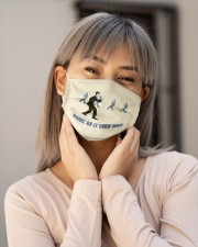 Once in a Lifetime Walk Cloth face mask aos-face-mask-lifestyle-17