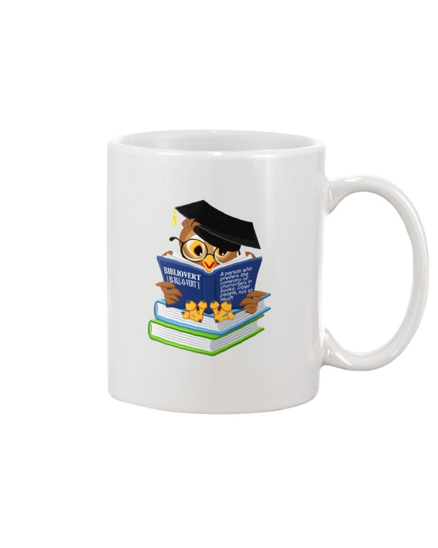 Bibliovert a person who prefers the company  Mug