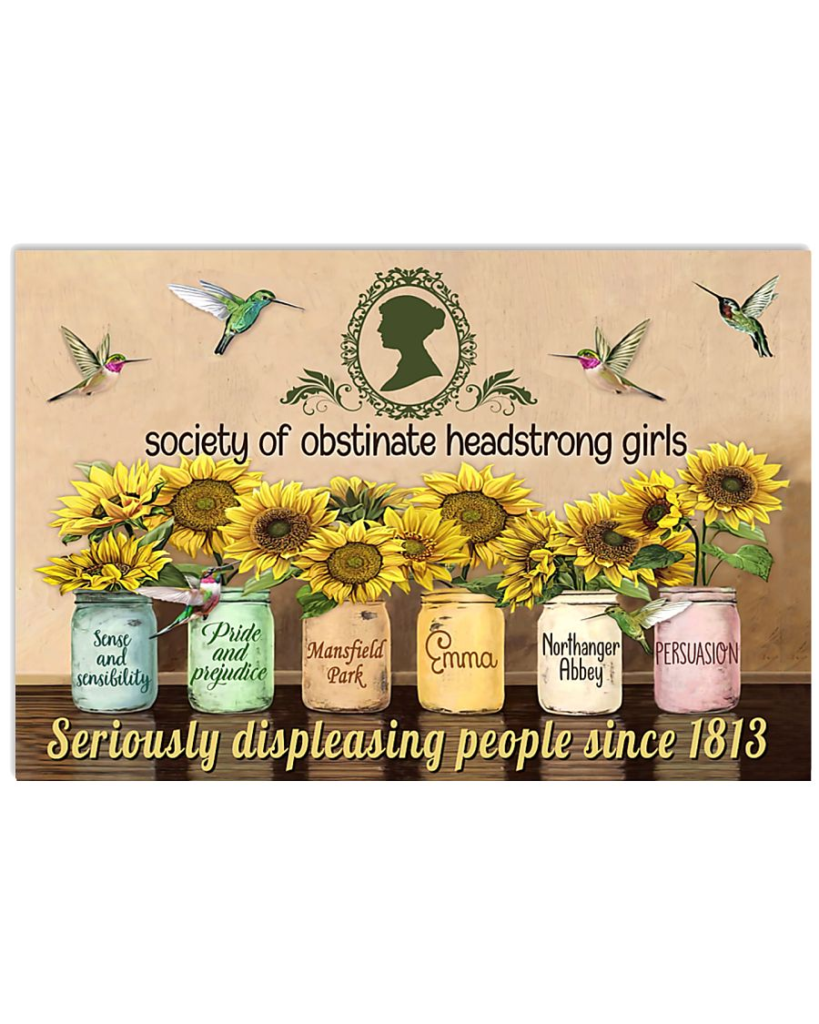 Society of obstinate headstrong girls 17x11 Poster