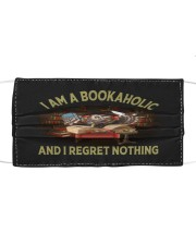 I am a bookaholic and I regret nothing Cloth face mask thumbnail