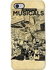 The history of musicals poster Phone Case tile