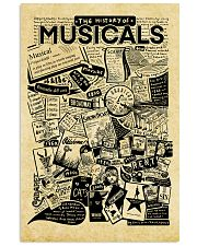 The history of musicals poster 11x17 Poster front