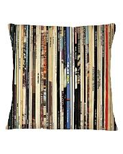 Classic Rock Vinyl Records Square Pillowcase thumbnail