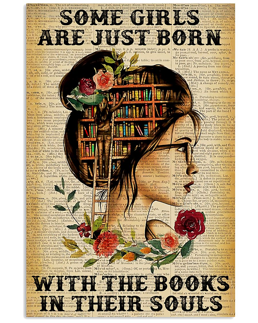 Some girls are just born with the books 11x17 Poster