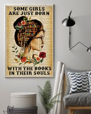 Some girls are just born with the books 11x17 Poster lifestyle-poster-1