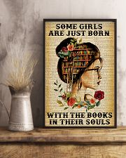 Some girls are just born with the books 11x17 Poster lifestyle-poster-3