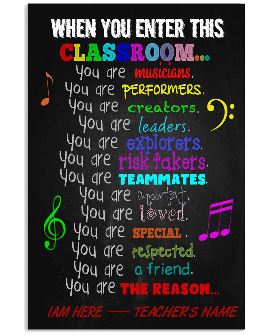Music Classroom Personalized Poste 11x17 Poster