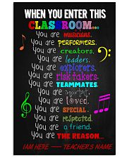Music Classroom Personalized Poste 11x17 Poster front