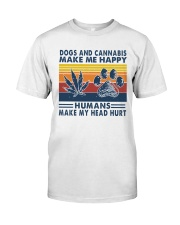 Dogs and cannabis make me happy Classic T-Shirt thumbnail