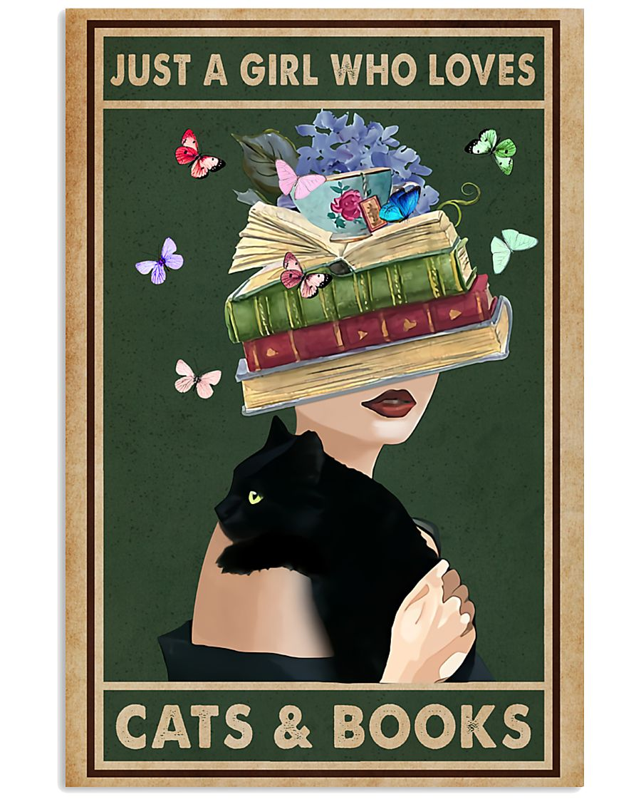 Just a girl who love cats  books 11x17 Poster