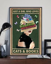Just a girl who love cats  books 11x17 Poster lifestyle-poster-2