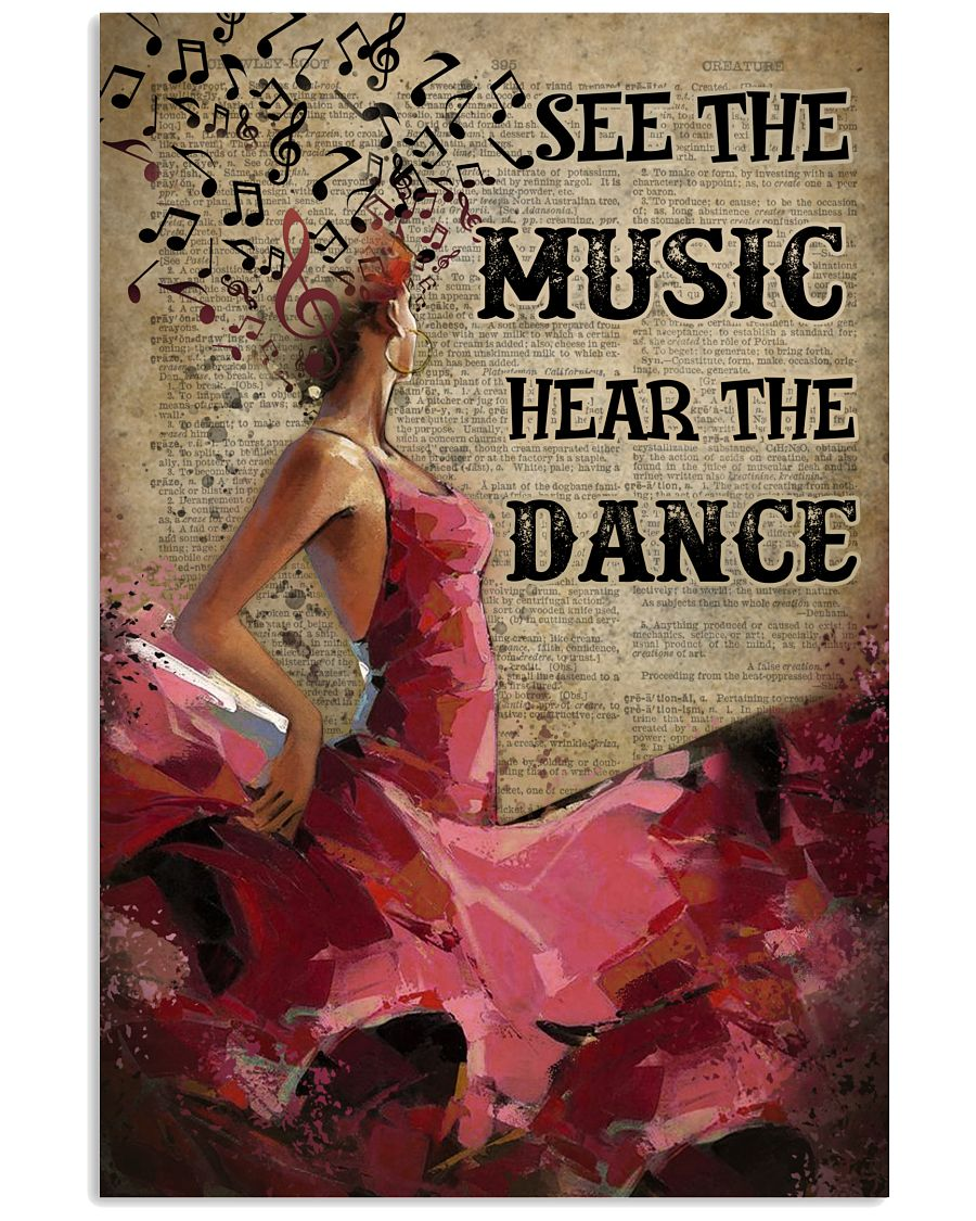 Flamenco hear the dance poster 11x17 Poster