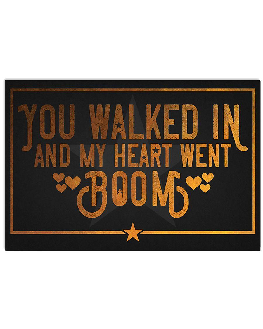 My heart went Boom Hamilton 17x11 Poster