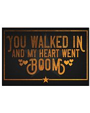 My heart went Boom Hamilton 17x11 Poster front