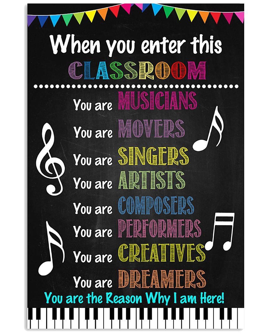 Music Teacher Classroom 11x17 Poster