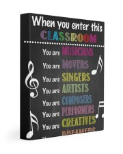 Music Teacher Classroom 11x14 Gallery Wrapped Canvas Prints thumbnail