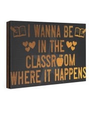 The classroom it happens poster 24x16 Gallery Wrapped Canvas Prints thumbnail