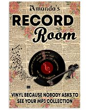 Record vinyl poster customized 11x17 Poster front