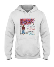A girl and her books living life in peace Hooded Sweatshirt thumbnail