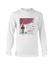 A girl and her books living life in peace Long Sleeve Tee thumbnail